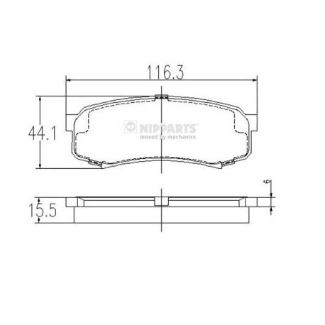 04466-60010 J3612010 Toyota задни накладки