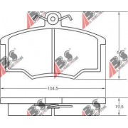 811698151A 36138 Audi Volvo предни накладки