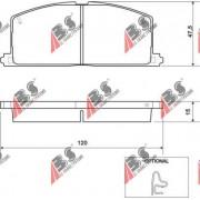36535 Toyota комплект спирачни накладки дискови спирачки