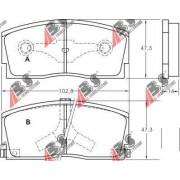 36658 Daihatsu комплект спирачни накладки дискови спирачки