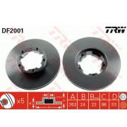 Преден спирачен диск 40206F3902 DF2001 Nissan Cabstar Trade 5 болта