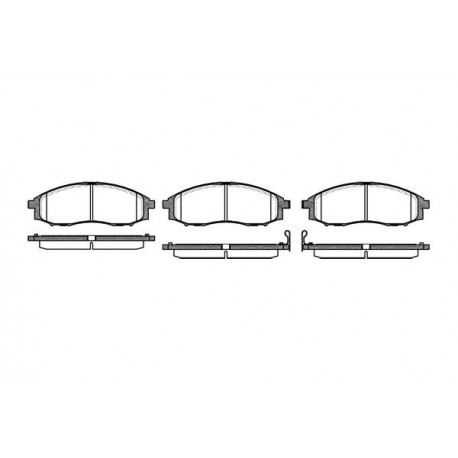 0748.02 Nissan предни накладки