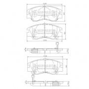 MB500813 Mitsubishi J3605027 предни накладки