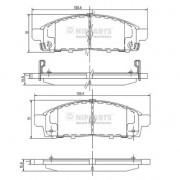 Накладки 4605А198 J3605050 Mitsubishi L200 предни