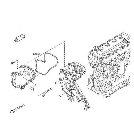 Гарнитура ангренажен капак 13520EB70A 13520-EB70A Nissan YD25DDTI