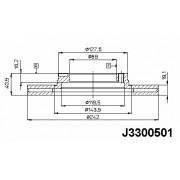 51712-32000 J3300501 Hyundai спирачен диск преден